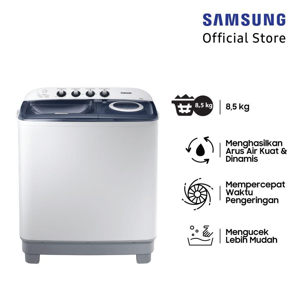 Samsung Mesin Cuci 2 Tabung, 8.5 Kg - WT85H3210MB
