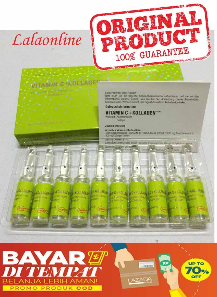 Rodotex Nano Injeksi Vitamin C + Collagen (HIJAU) Original / rodotex vit c Original