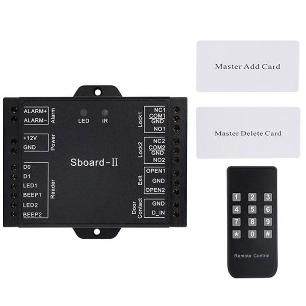 Access Control Kits Dual Door Access Control Relay System Wiegand Interface Sboard-II Rfid Lock Door Access Control