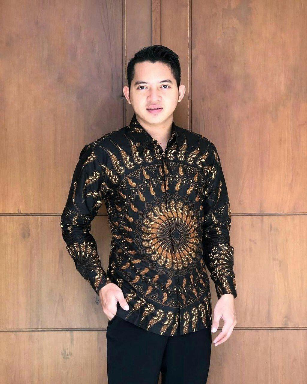 Kemeja Batik Baju Batik Pria Lengan Panjang BS043