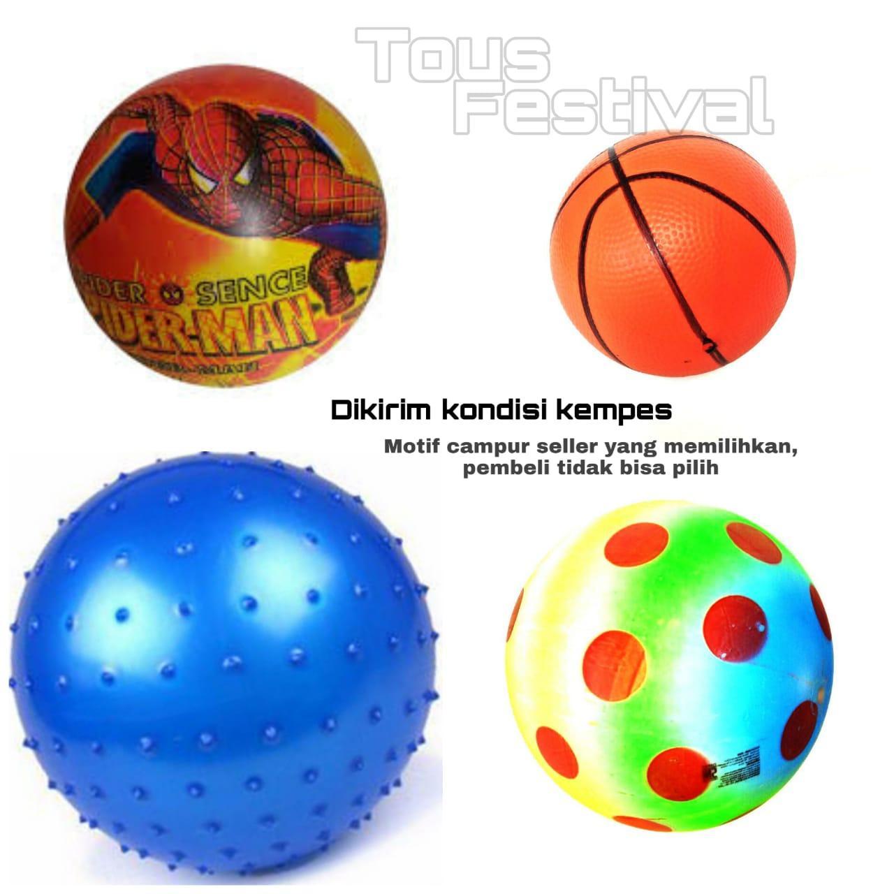 12 Pcs Bola Balon Anak Motif Campur By Toys Festival.