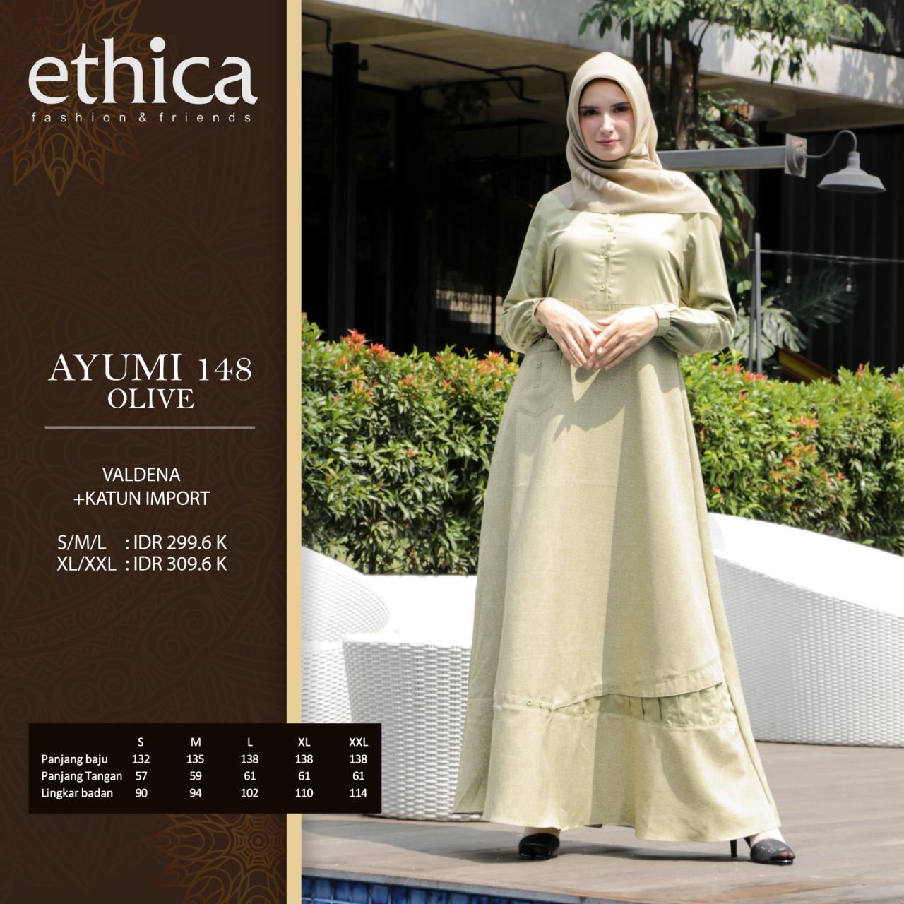 Gamis Ethica Ayumi 148 Olive Membeli Jualan Online Baju Muslim Jumpsuit Dengan Harga Murah Lazada Indonesia