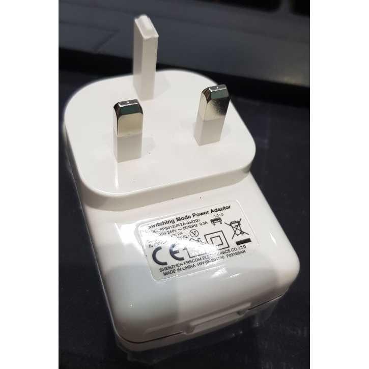 Adaptor Charger Traveler Charger 1 USB Port 5V 2 A US Plug - FPS012UK2A-050200