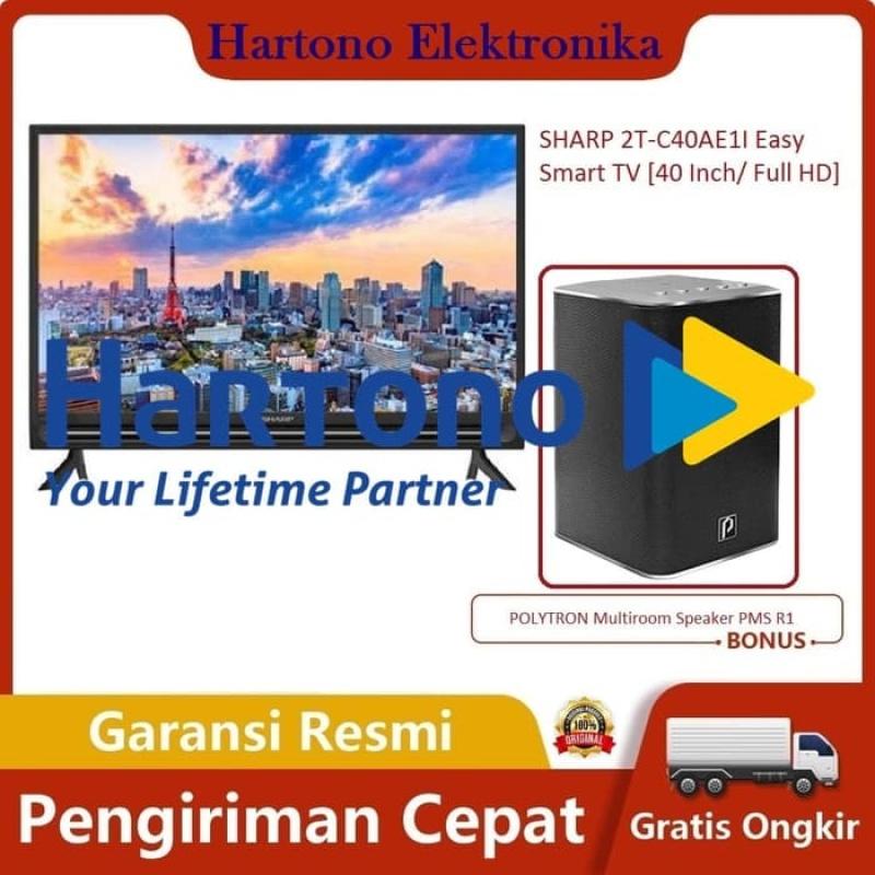 PROMO TERAKHIR SHARP 2T-C40AE1I Easy Smart TV [40 Inch/