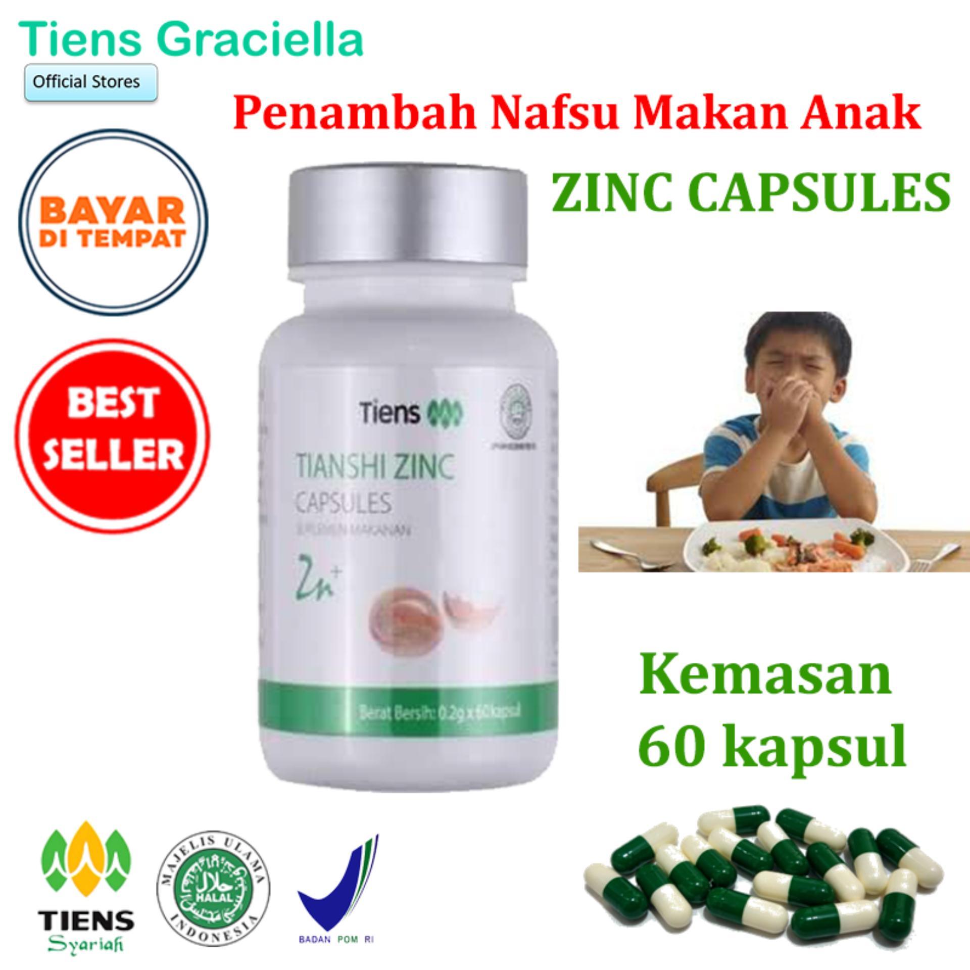 Tiens Zinc Vitamin Penambah Nafsu Makan Anak Paket Promo Banting Harga 60 Kapsul + Gratis Kartu Member Tiens Graciella By Tiens Graciella.