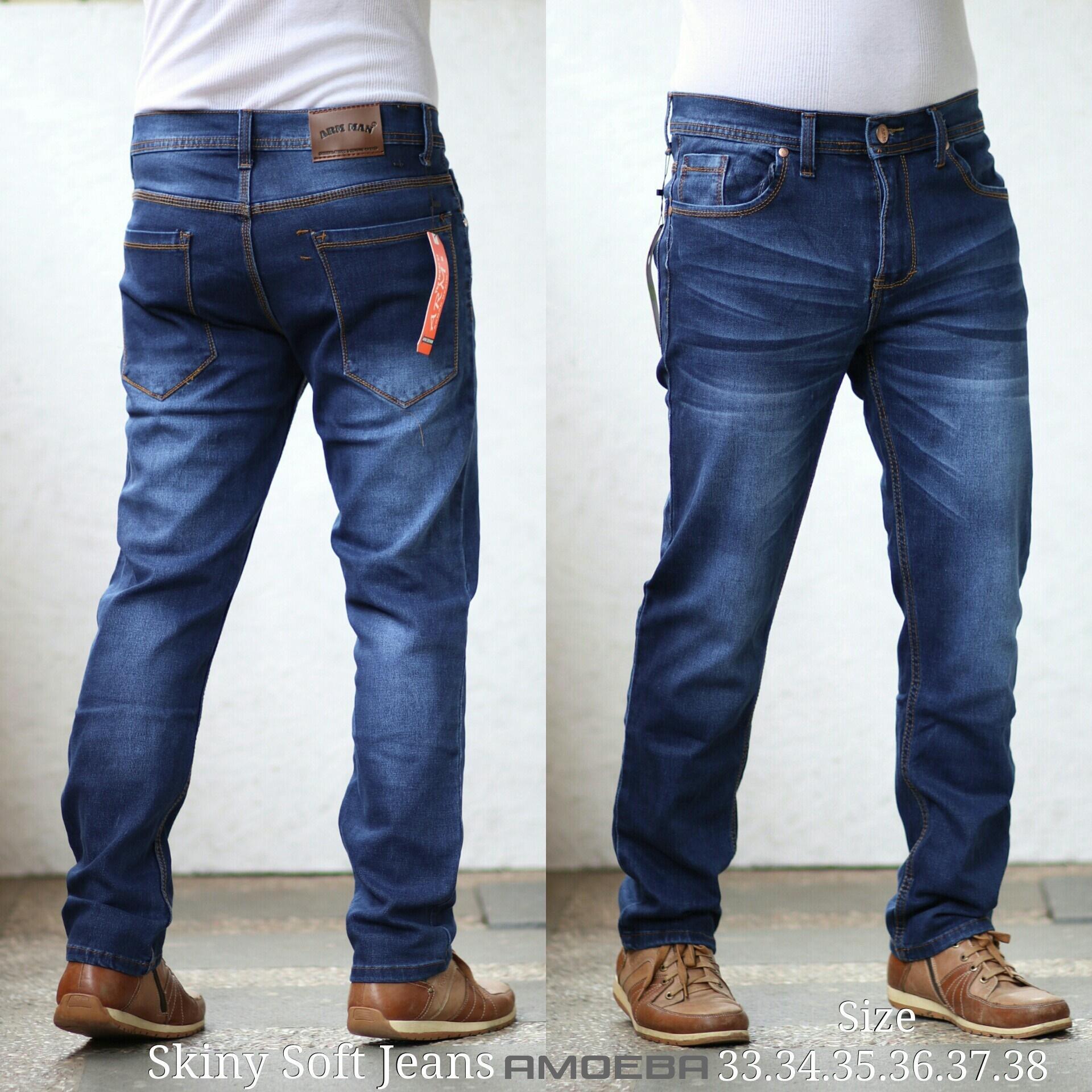 Celana Jeans Skinny Big Size/Slimfit Jumbo/Ukuran Besar Pria Murah