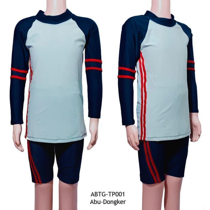 Baju Renang Anak Unisex 7-12 Tahun Model Setelan Tangan Panjang