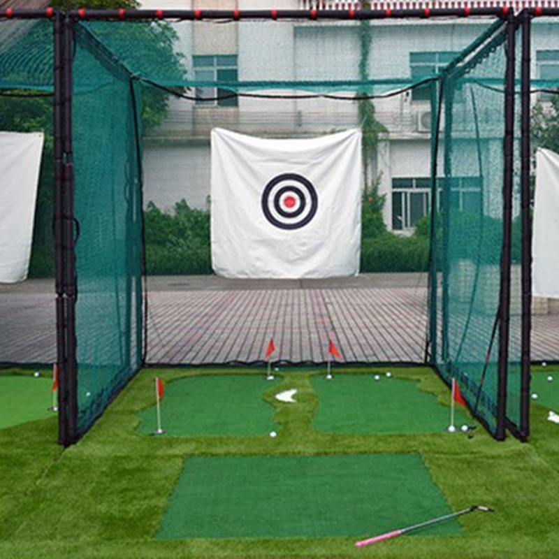 Bảng giá Golf Net Hitting Cage Practice Net Indoor Outdoor High Impact Double Back Stop with Target Training Ball Return Net