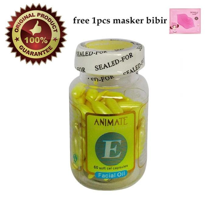 Animate Serum Wajah - Serum Gold - Serum Vitamin C Isi 60 Softgel + Free 1pcs
