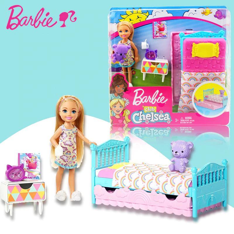 Club Chelsea Barbie Doll Playset Original Mattel Boneka Mainan Anak