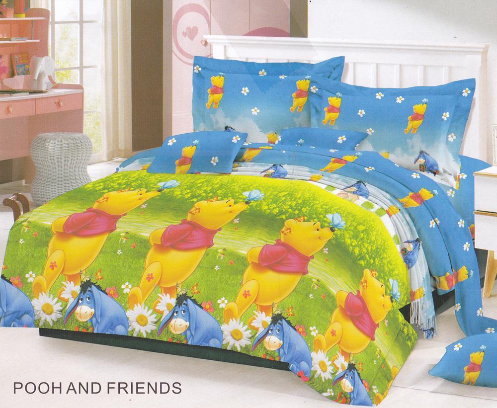 Fairmont Pooh and Friends Sprei Set 180x200x20cm King Size .