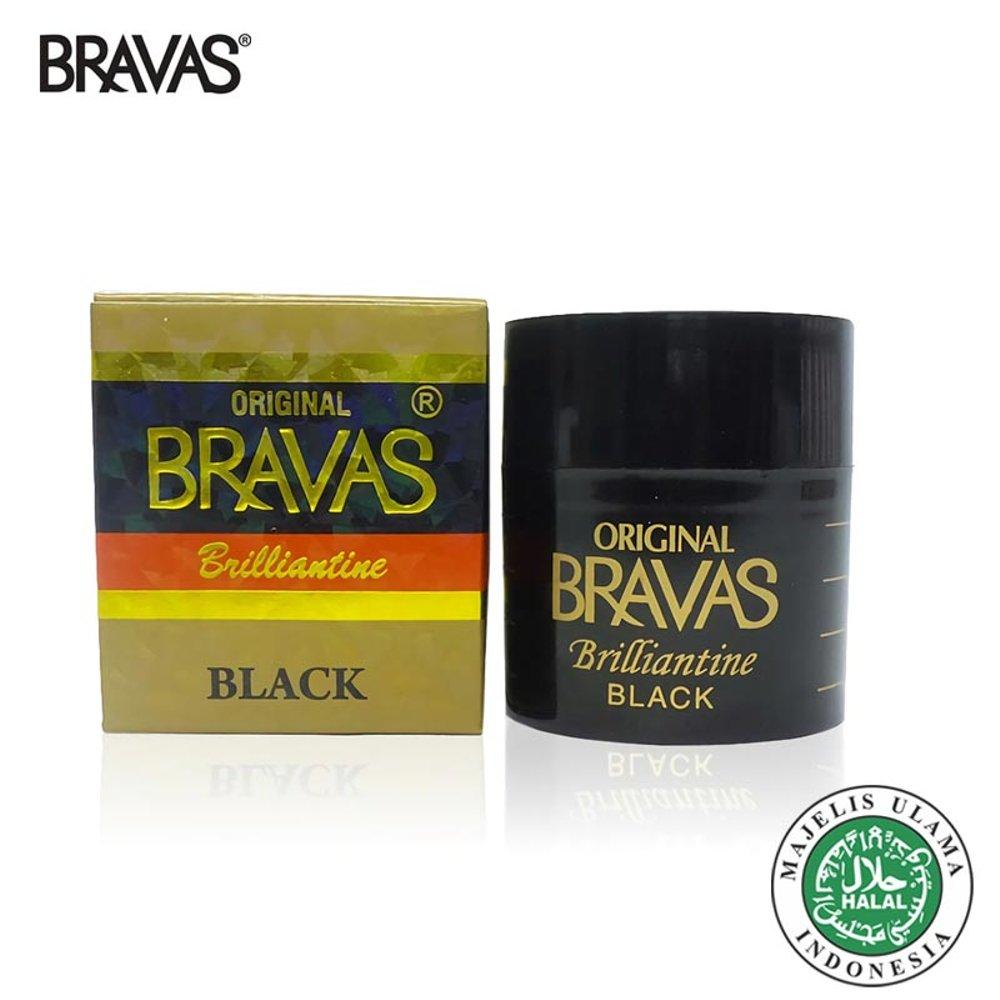 Bravas Pomade Brilliantine 80 Gram Halal - Original - Black By Dimensi +.