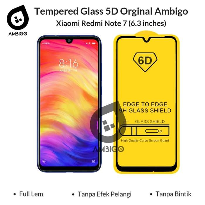 Hunter Acc Ambigo Tempered Glass 6D Full Cover Warna / Anti Gores Kaca Full Lem For Xiaomi Redmi No