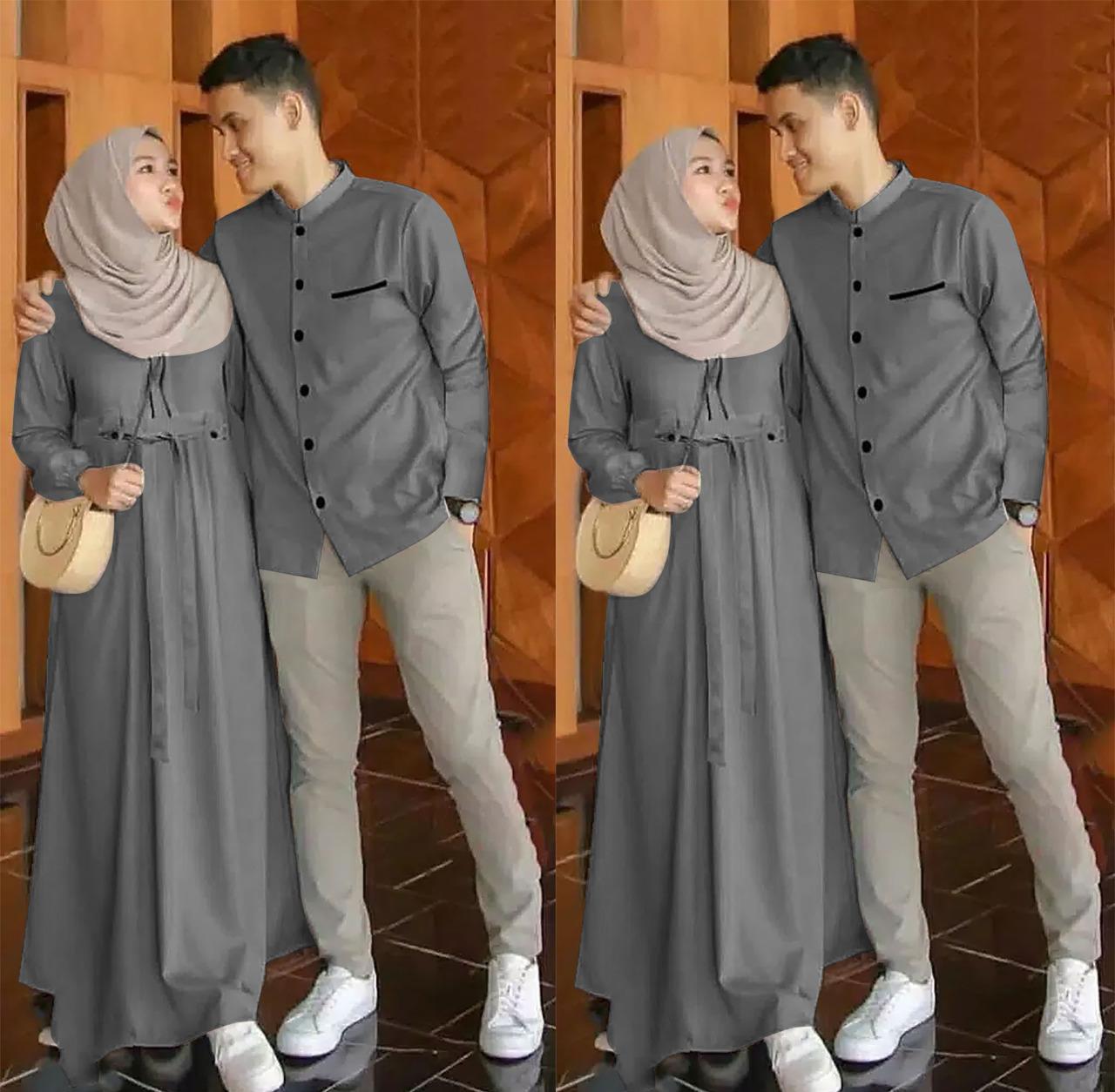QUEEN BOUTIQUE JAKARTA - CP EMON - Pakaian pasangan - Couple Muslim - Gamis