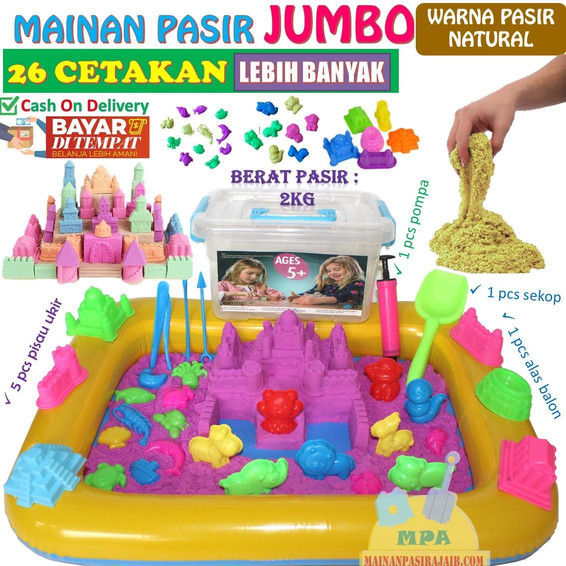 Mainan Pasir Ajaib Magic Sand Paket Lengkap 2Kg JUMBO cee8cb570c