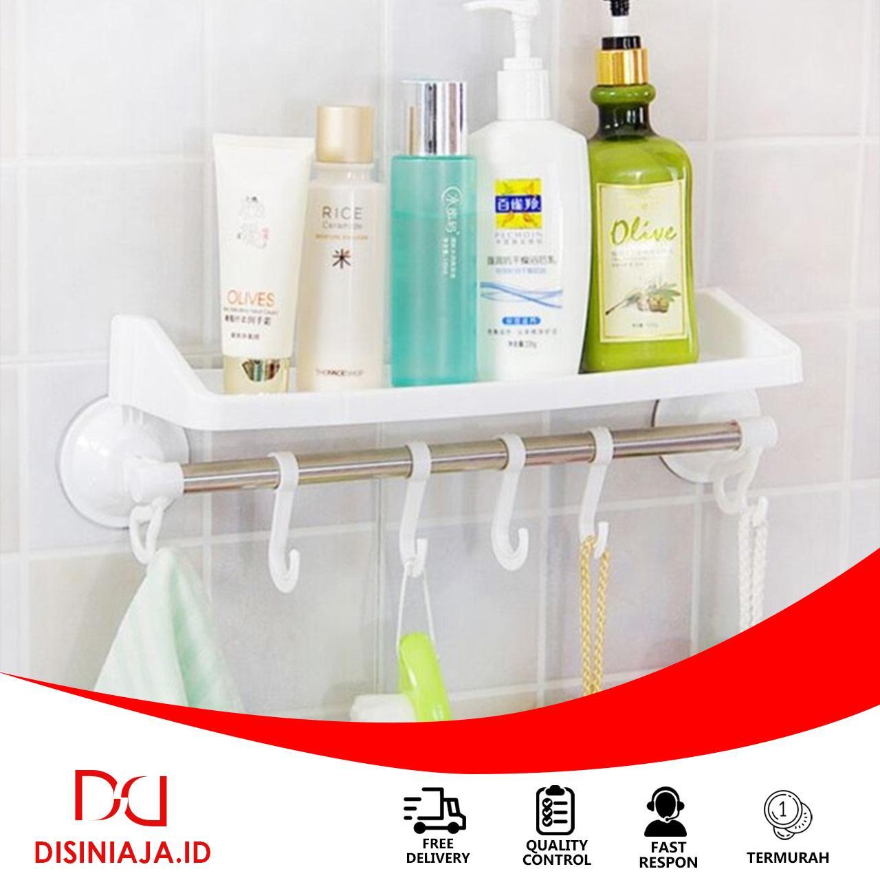 Rak kamar mandi tempat shampoo handuk odol sabun / rak gantung tempel  dinding toilet