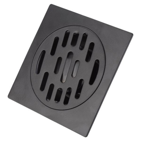 Stainless Steel Floor Drain Heavy Duty Floor Drain Cover Home Bathroom Shower Waste Drainer Thickened Waste Floor Drain Black 1#