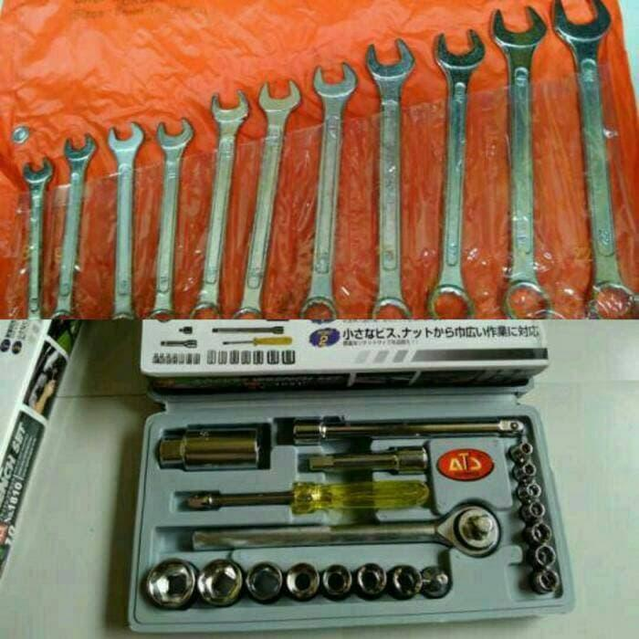 Jamkita COD Tool Set Kunci Sok Set 21 pcs + Kunci Ring Pas Set 11 pcs