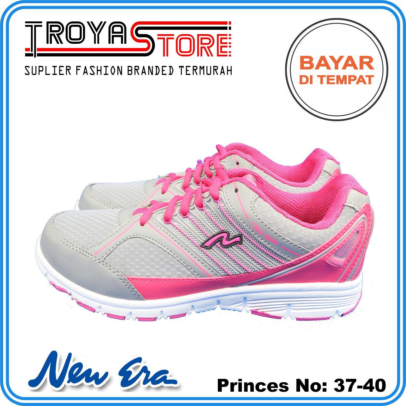 TROYASTORE - NEW ERA Sepatu Wanita Murah PRINCESS Original Abu Hitam Pink    Sepatu Sneakers Wanita 164e9b92f2