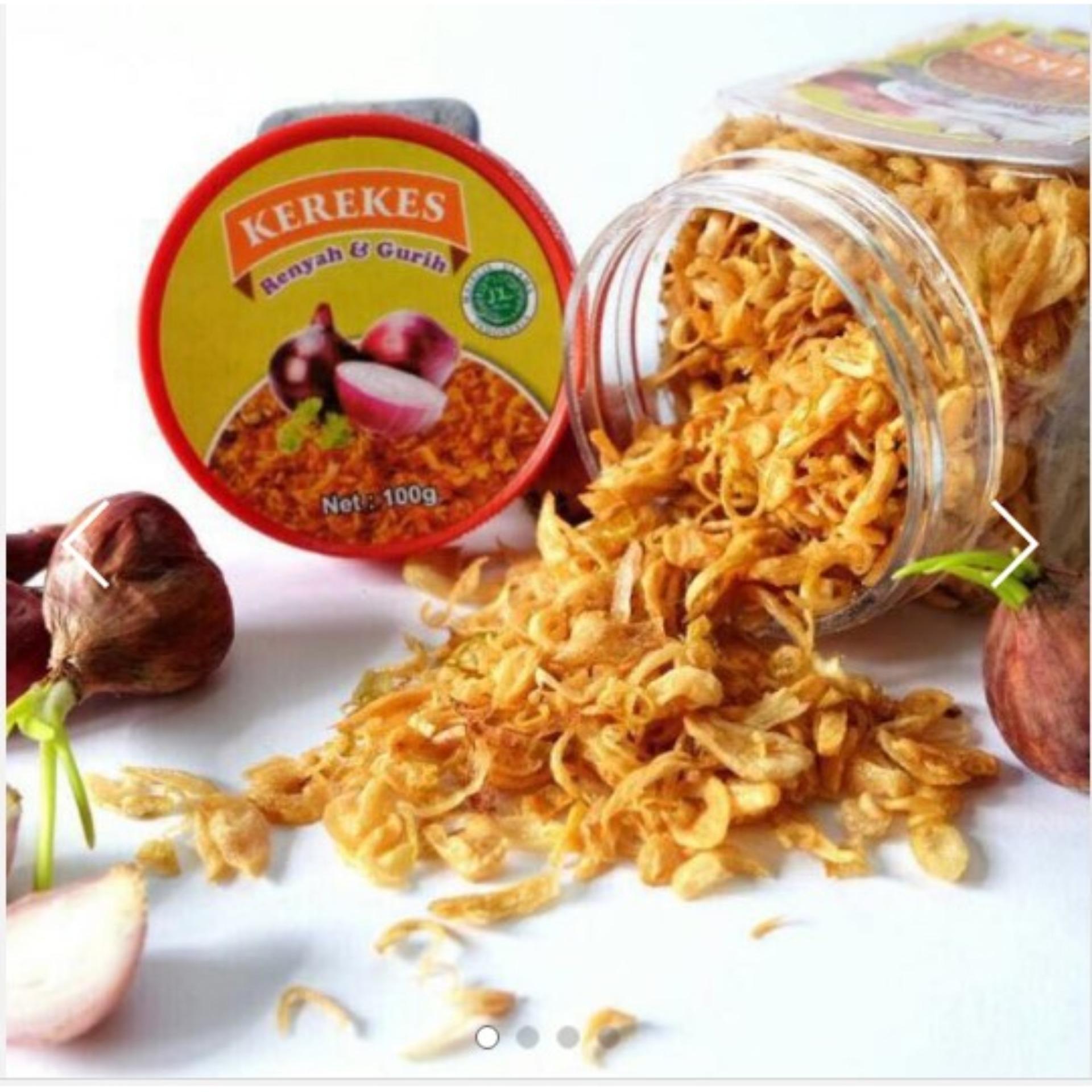 TokoSaSa Kerekes Bawang Goreng Kerekes Enak - Rasa Renyah Gurih dan Lezat Nett 100 gram/