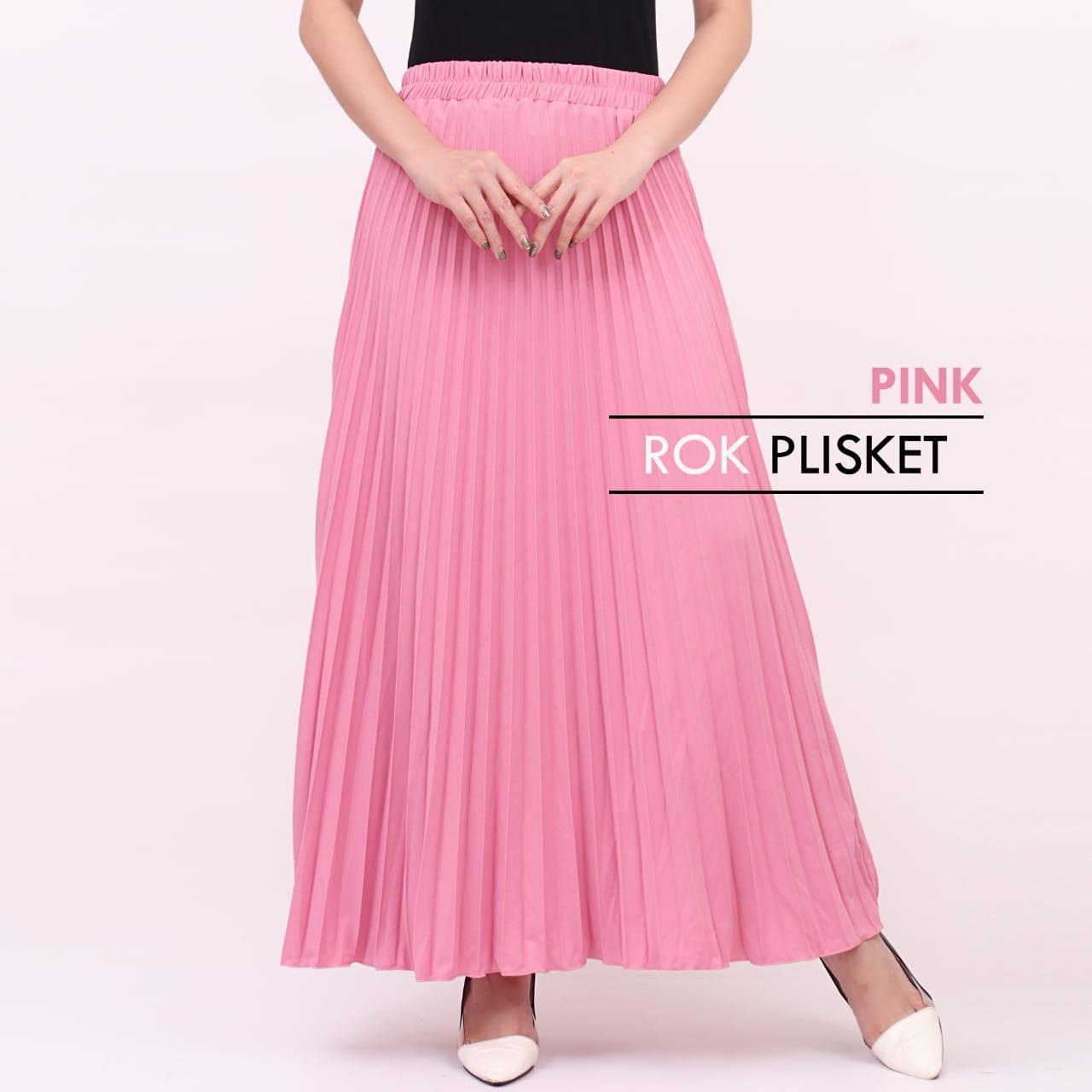 Ciara Fashion Rok Payung Plisket / Maxi skirt / Bahan Import / Bawahan / Rok maxi Kode.256