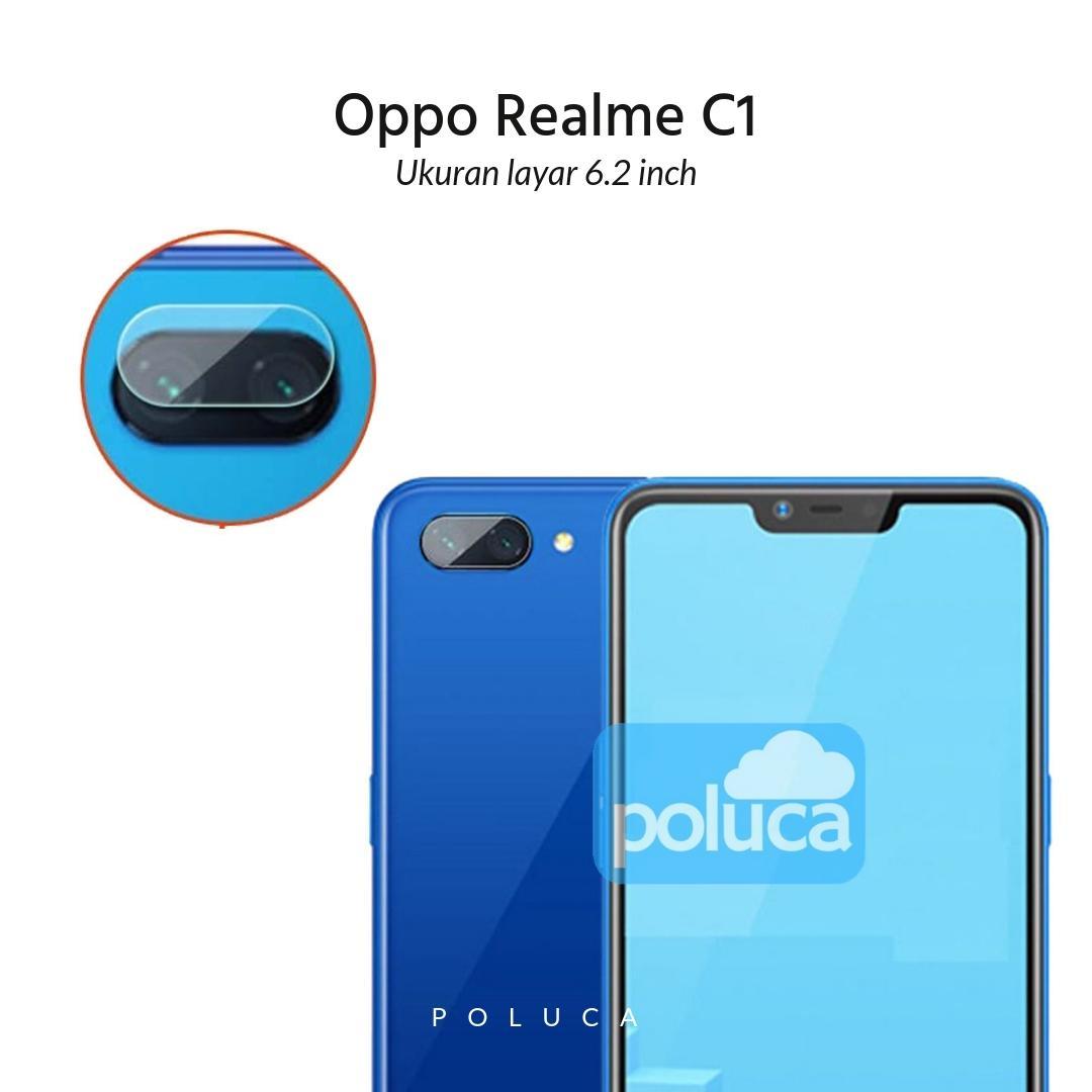 Poluca Tempered Glass Screen Protetor Camera Anti Gores Kamera Oppo Realme C1 ( 6.2 inch ) - Clear
