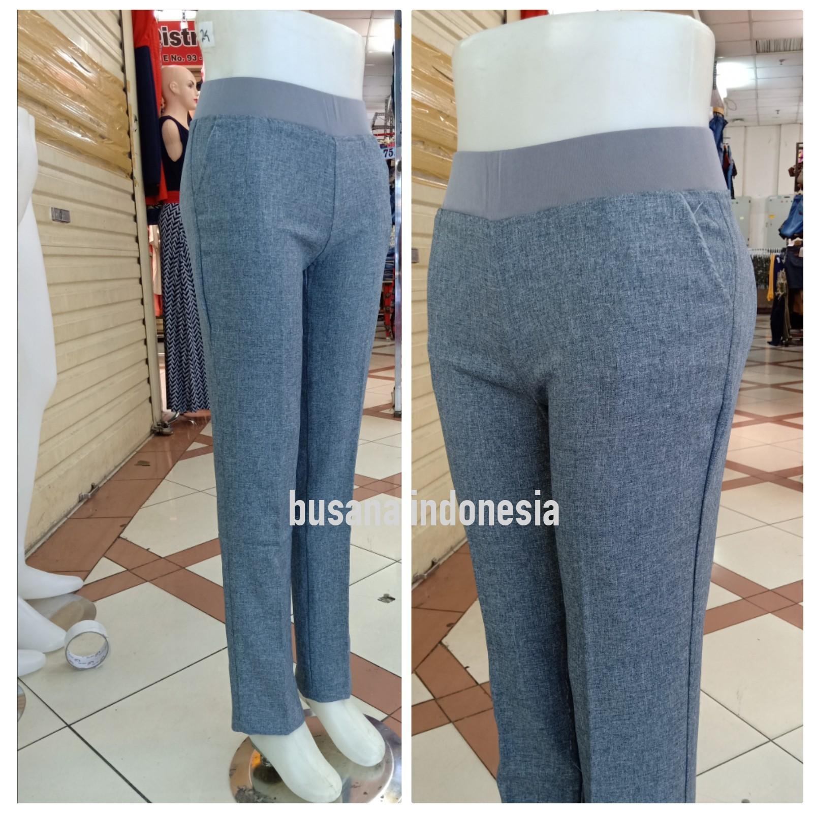 BUSANA INDONESIA celana kantor wanita/celana kerja wanita/celana bahan wanita/celana panjang