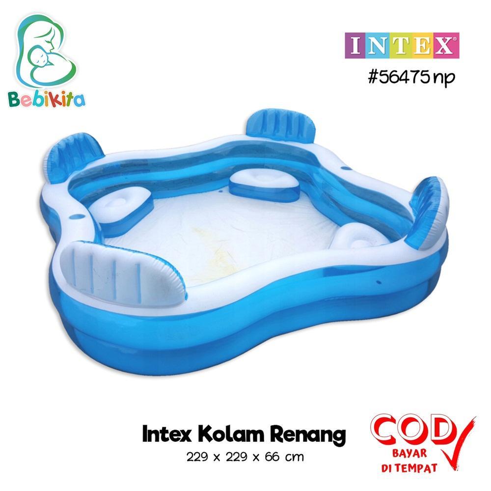 Intex Kolam Renang Anak Dan Keluarga Uk 229 X 229 X 66 Cm Intex 56475np Swim Center Family Pool