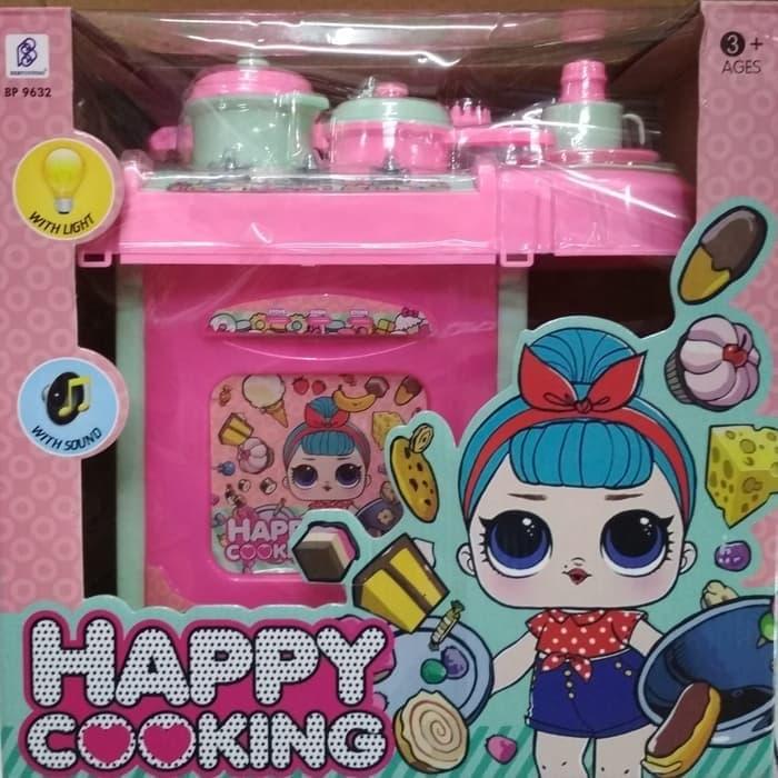 Mainan Anak Masak Masakan Dapur Happy Cooking Lol Lazada Indonesia