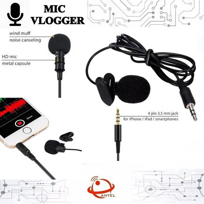 Clip On Mic Microphone 3 5mm Clip On Mikrophone Klip Laptop Pc Mic Lazada Indonesia
