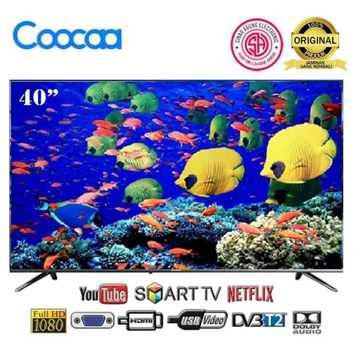 COOCAA 40 Inch Smart TV LED 40TB5000 FREE Packing Kayu