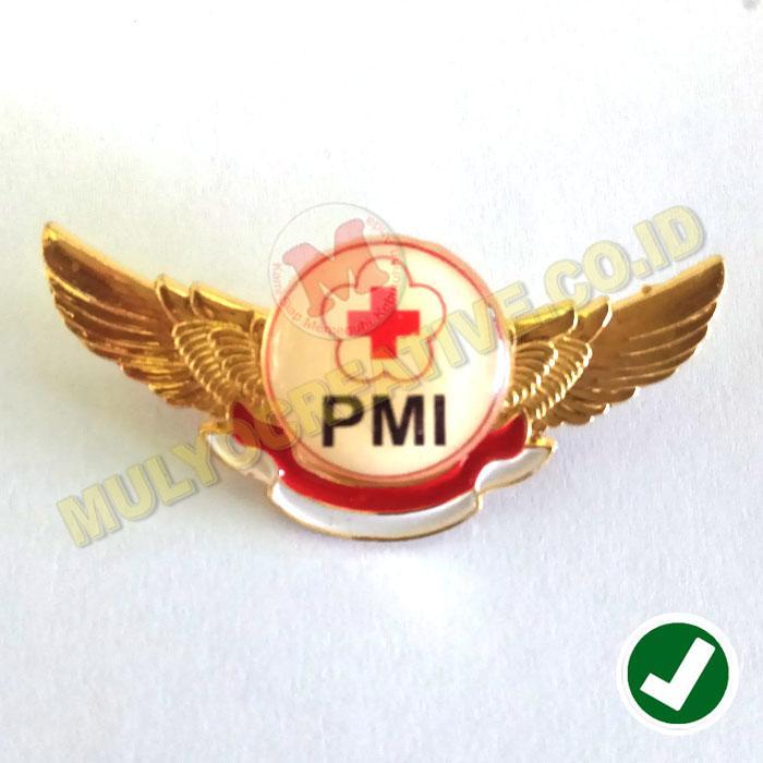 Wing PMI - Palang Merah Indonesia - Lencana Wing PMI - Logam Kuningan / 4pcs