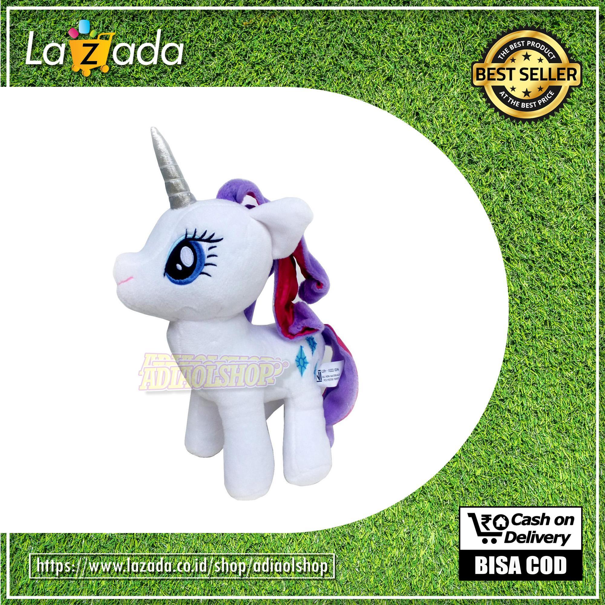 Bisa Cod - Ready Stock Boneka Kuda Poni My Little Pony Karakter High Quality (pilih Sesuai Warna Di Dropdown Warna) By Adiaolshop.