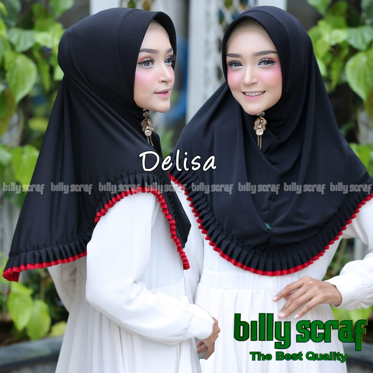 badgeHijab/Jilbab Instan Model Bergo terbaru termurah dan Terlaris / Kerudung Wanita Jersey DELISA / DNK Jaya