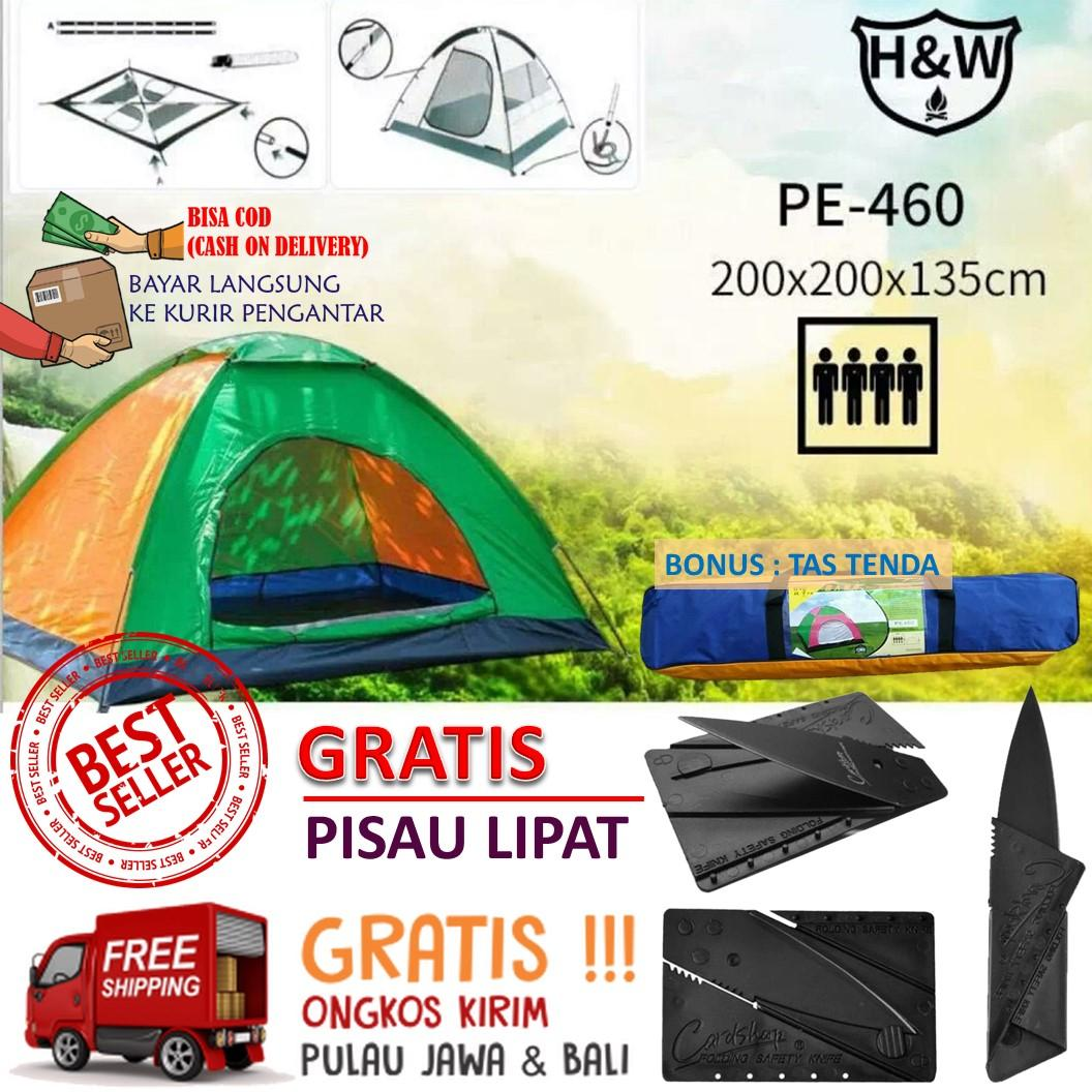 Tenda Camping 4 Orang 200cm X 200cm Besar Kemah Camping Mainan Anak Edukatif Outdoor By Antarestar.