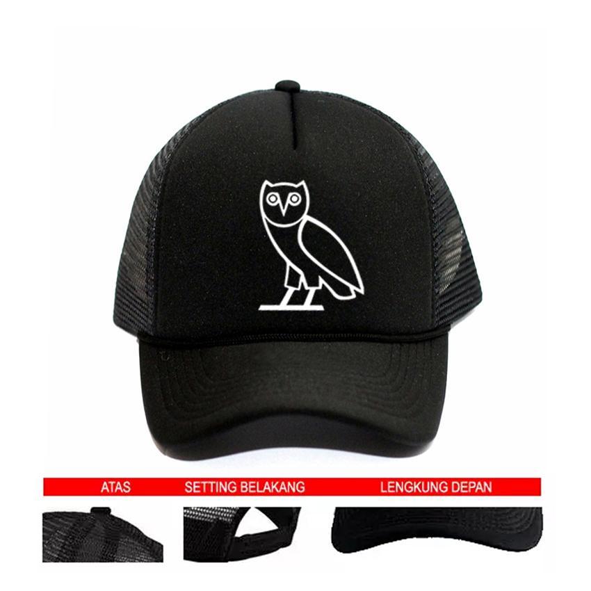 Topi Trucker  Ovo Drake - Black Premium