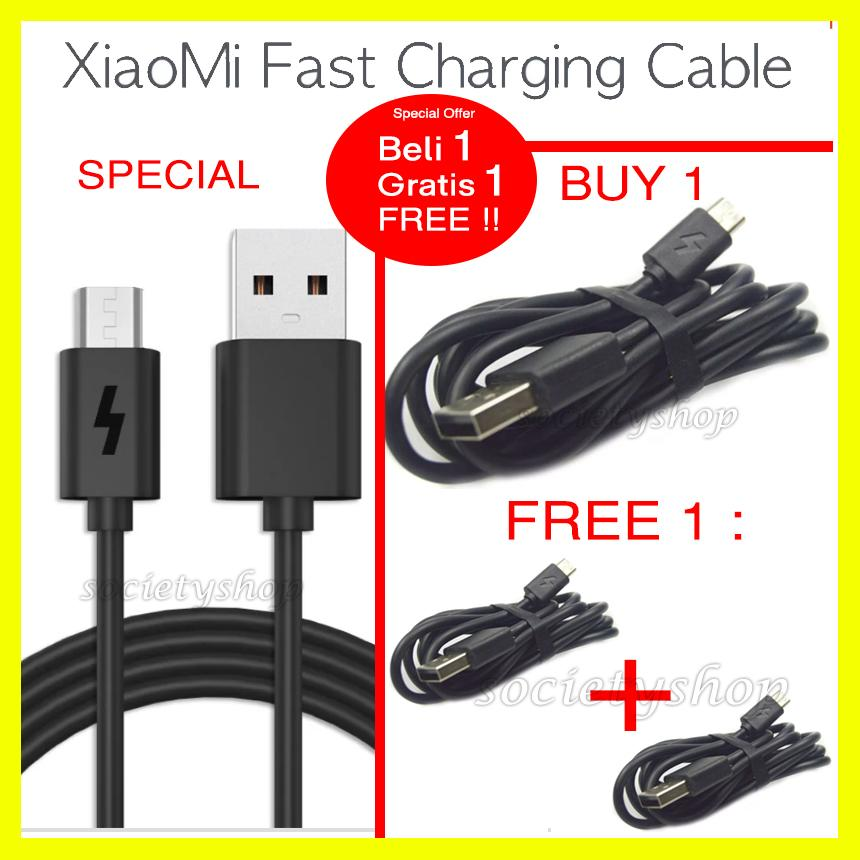 Promo Hemat 2 FAST Charging Kabel Original Xiaomi 1 2 3 4 4x Prime 5a 5 Charger Cable Data ORI Xiomi For Redmi Series Micro Usb