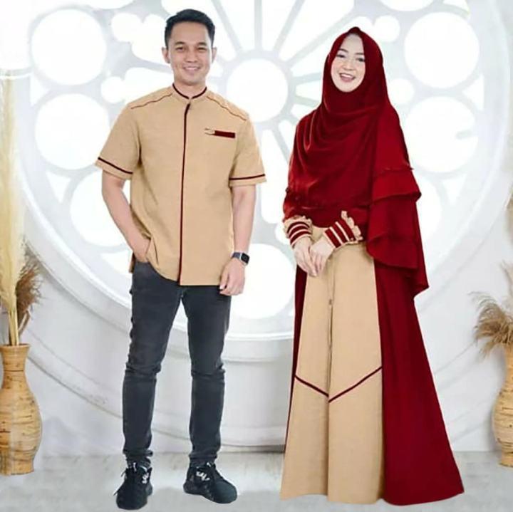 Cod Pintu Rayo Store New Nizar Couple Bahan Moscrepe Baju Couple Ukuran Allsize L Xl Gamis Terbaru 2020 Modern Baju Couple Keluarga Muslim Baju Couple