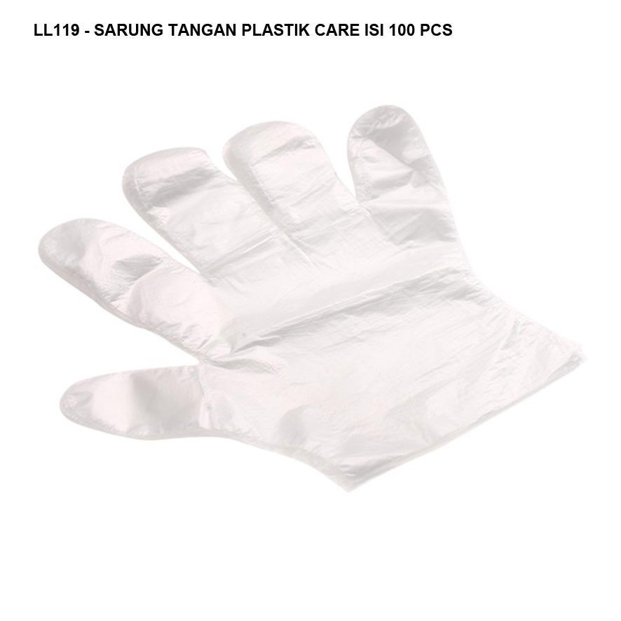 Luck Sarung Tangan Plastik Transparan - isi 100 Pcs