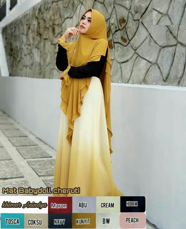 TF PROMO Bisa Bayar di Tempat Jilbab Murah Khimar Anindya Hijab Instan Mewah Kerudung Instan Khimar Instan