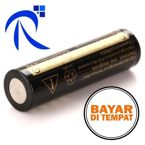 COD UltraFire Baterai 18650 3.7V 6000mAh dengan Button Top - BRC 18650 - Gold /