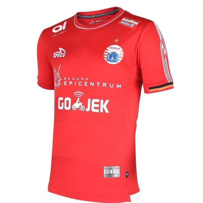 ... Baju Kaos Olahraga Jersey Bola Setelan Futsal Volley Mz 03 Hitam Merah. Source · Jersey Bola Persija Home Terbaru