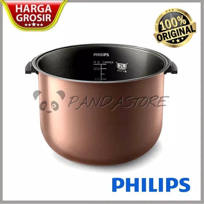 Sparepart Inner Pot / Panci / Teplon Rice Cooker Philips 2L 2 Liter HD3128 / 3127