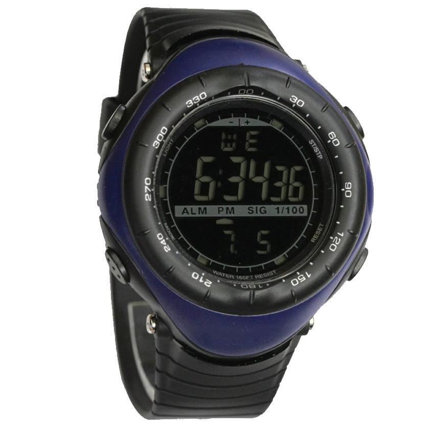 Jam Tangan Digital Watch Sport Vector Arloji Pria wanita - Black Series