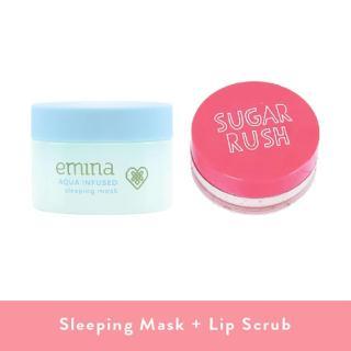 [BAYAR DITEMPAT] EMINA Aqua Infused Sleeping Mask + Sugar Rush Lip Scrub - Paket Skincare - Paket Hadiah thumbnail