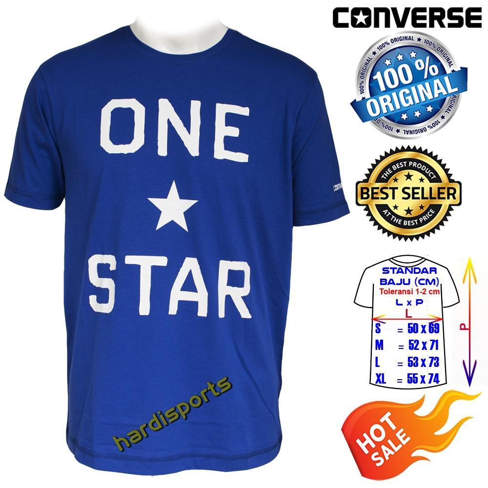 Kaos Pria Converse OneStar Brand Tee (M) CONMT1097483 - Blue