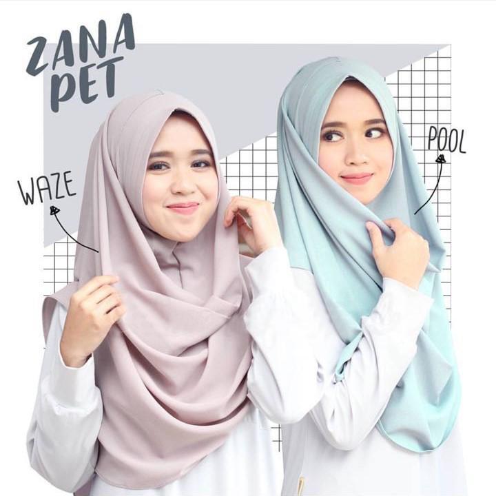 Cotton Bee ZANA PET Hijab Instant Kerudung Insant - Camel / Jilbab Instan Murah / kerudung Berkulitas / Hijab Terkini / Pastan Model Baru