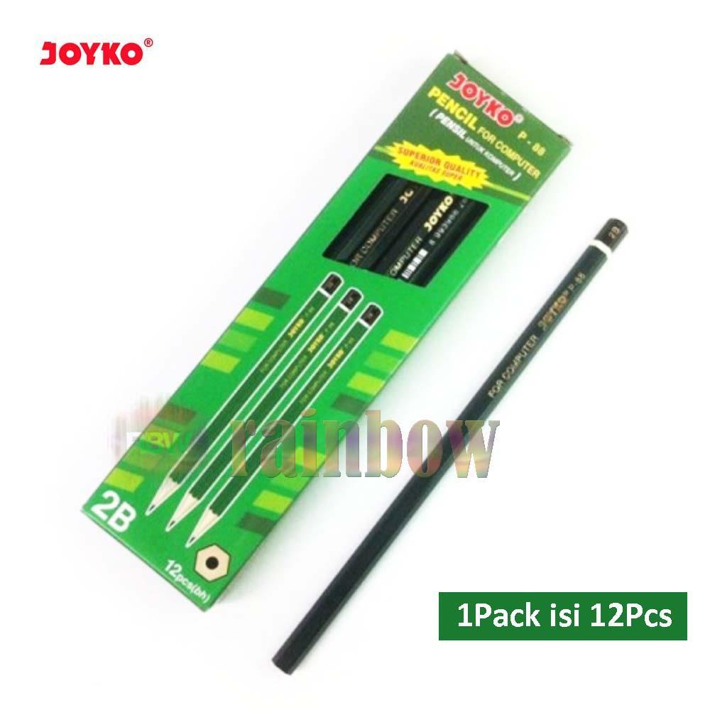 Joyko - Pensil 2B Komputer Pencil For Computer P-88 2B - 1 Pack 12 Pcs
