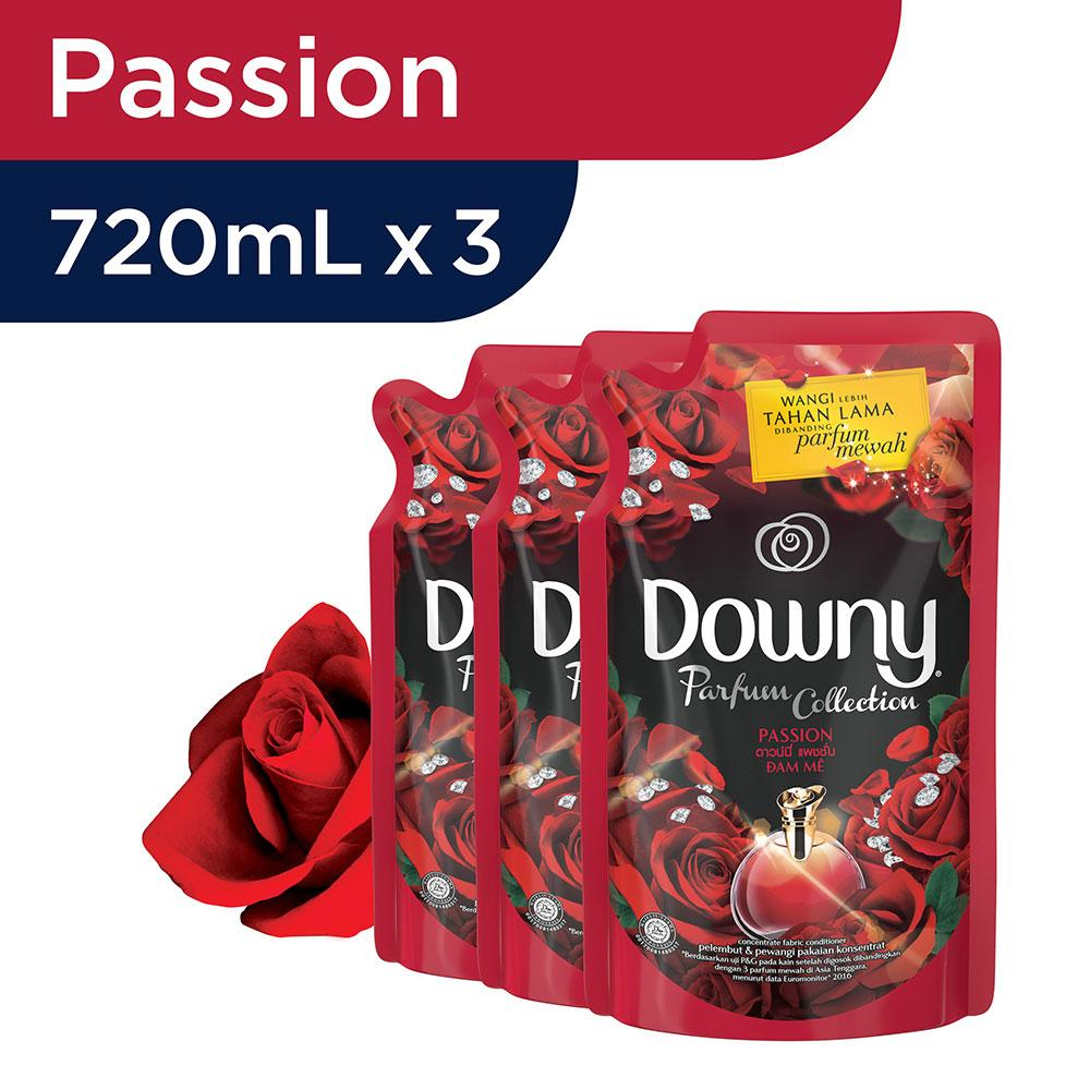 Downy Passion Refill 720ml - Paket Isi 3 By Lazada Retail Downy