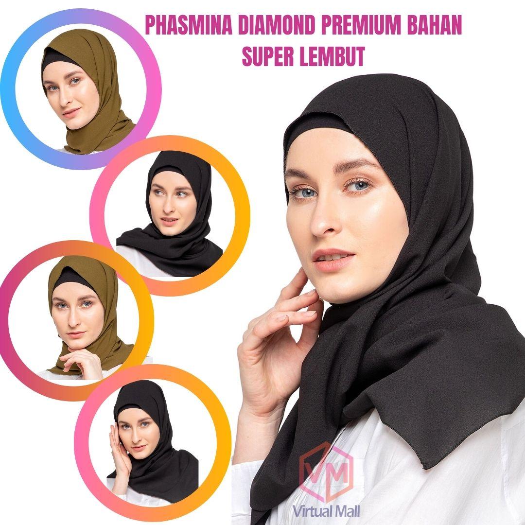 Pashmina Ceruty Hijab Baby Doll Ceruti Premium Jilbab Diamond Lazada Indonesia
